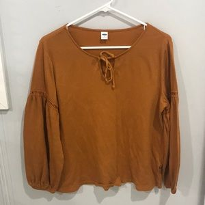 pumpkin colored flowy long sleeve
